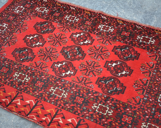 Semi-Antique Turkoman Natural Dye Soft Woolen Afghan tribal Balisht Cushion Case Big Pillew Decor Piece