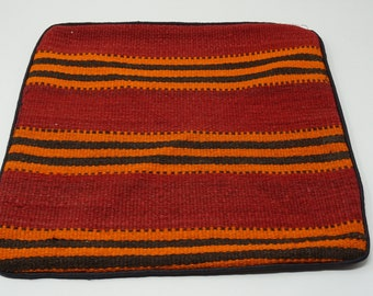 Vintage Afghan tribal kilim pillow cover/ Decorative pillow Afghan Nomadic cushion cover