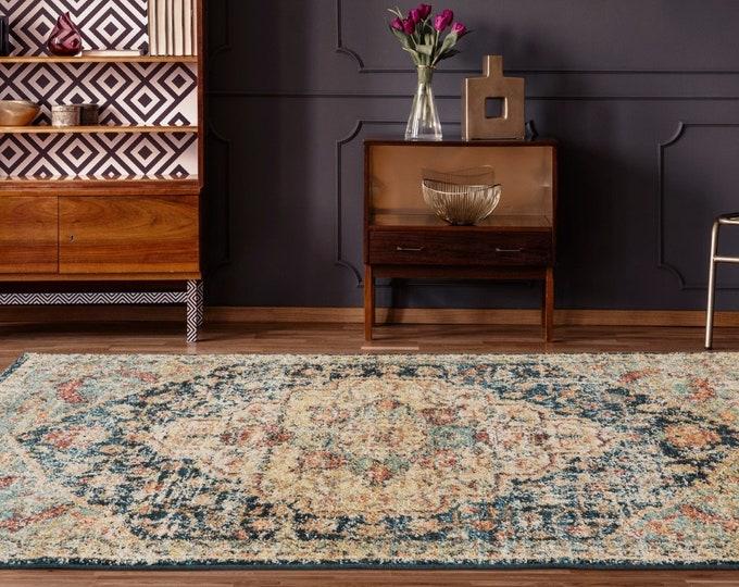 9x12 Rugs Marrakesh Sultan Multi Traditional Rug, Living Room Rug, Bedroom Rug, Tribal Look Carpet, 8x10 Rug, Traditional 9x12 Rug