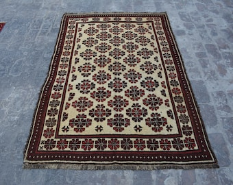 Elegant Vintage Afghan baluchi tribal handmade wool Moroccan style rug /Decorative rug vintage afghan traditional rug Nomadic decorative rug