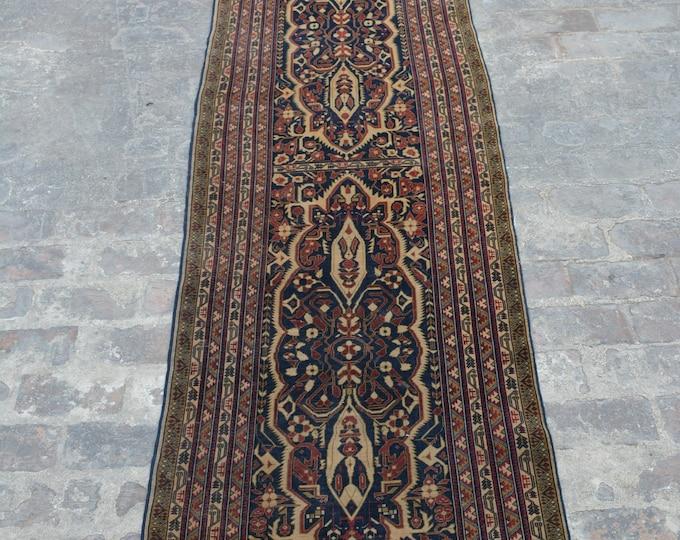 Vintage Afghan turkoman tribal Alikhoja rug runner handmade wool rug runner/ Decorative rug vintage afghan traditional rug runner