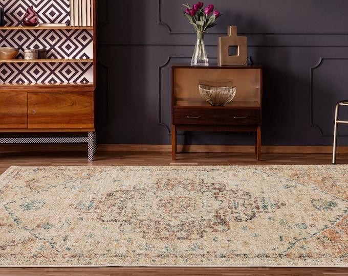 9x12 Rugs Marrakesh Sultan Bone Traditional Rug, Living Room Rug, Bedroom Rug, Tribal Look Carpet, 8x10 Rug, Traditional 9x12 Rug