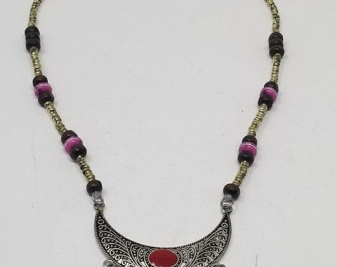 Beautiful vintage Afghan kuchi Turquoise pendant necklace/ gypsy Ethnic jewelry/ Afghan jewelry , Gypsy style jewelry Boho style