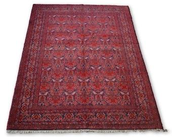 Vintage Hand knotted Tribal Afghan rug / Decorative rug -Bohemian Decor