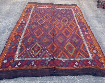 CLEARANCE SALE 70% OFF - Vintage Handwoven Tribal Afghan Kilim - Bohemian Turkish kilim rug - Free Shipping