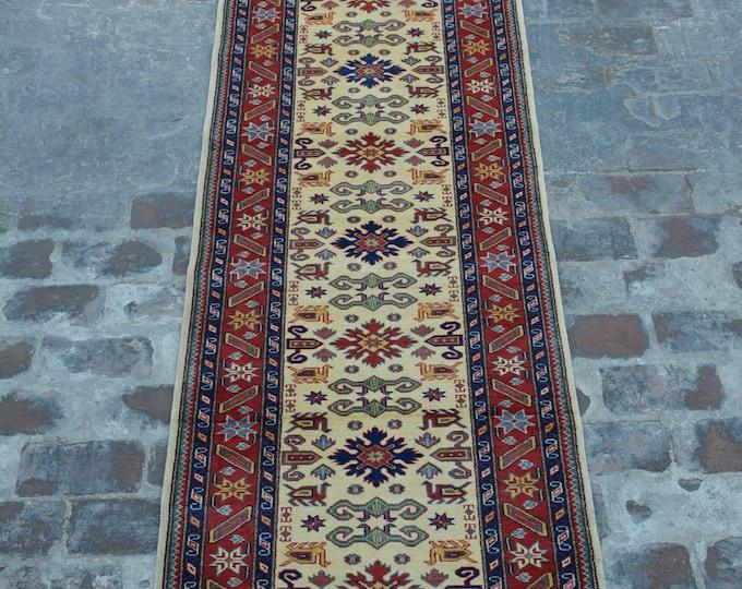 Elegant Afghan Handmade shirvan Rug runner - natural dye Afghan rug runner