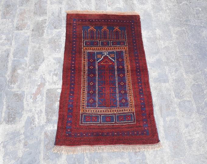 Beautiful Handmade Tribal Prayer rug  - Free Shipping - 68 x 113