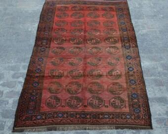 Rare Antique Afghan filpai baluchi tribal handmade wool rug / Decorative rug vintage afghan traditional rug