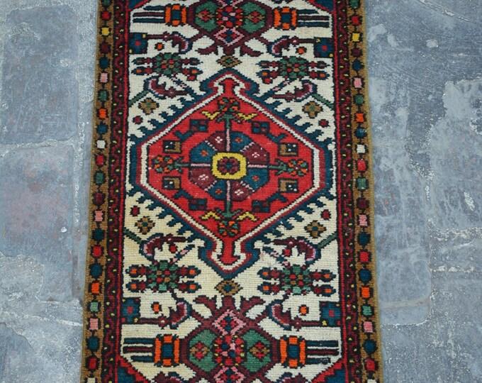 Vintage Caucasian tribal handmade wool rug / Decorative rug vintage afghan traditional rug