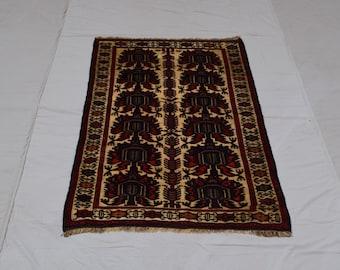 Handmade Afghan Burjesta Wool rug, Bedroom rug, Living room rug, Free Shipping