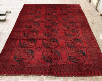 Filpai Rug, Antique Handmade Afghan rug / 9x12 Large area rug / Bedroom rug, Dining room rug, Living room rug, Free Shipping