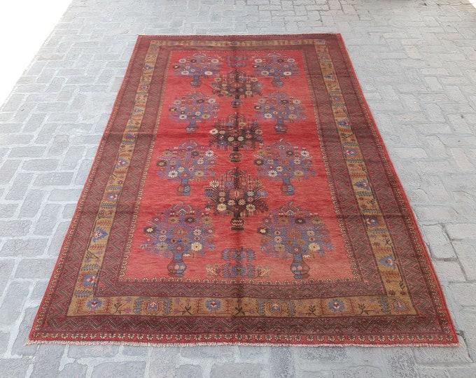 Large vintage Afghan Baluch rug, Bedroom rug, Oriental vintage rug, Bokahara rug, Living room rug, Free shipping