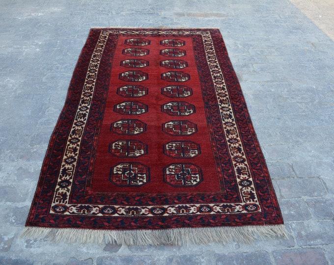 best quality Vintage Afghan turkoman tribal chobbash handmade wool rug / Decorative rug vintage afghan traditional rug
