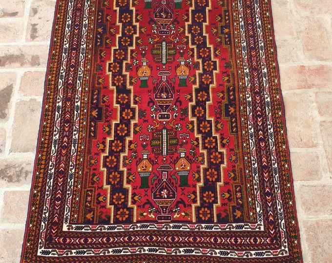 Fine Afghan Wool on Wool Rug, Hand Made Tribal Area Rug