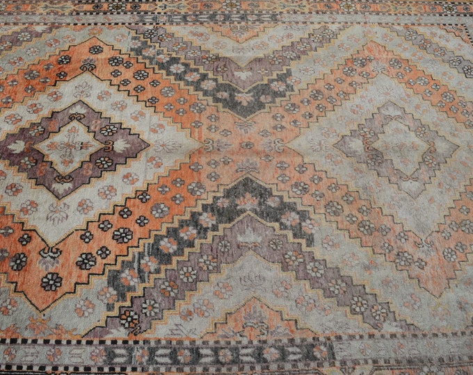 """Antique 5'8"""" x 8'10"""" Kurdish Caucasian Hand-Knotted Tribal Distressed Rug - FREE SHIPPING"""