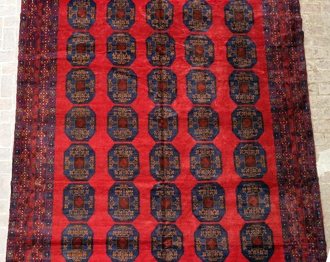 310 x 385 Baluch Rug, Vintage Handmade Afghan rug / 9x12 Large area rug / Bedroom rug, Dining room rug, Living room rug, Free Shipping