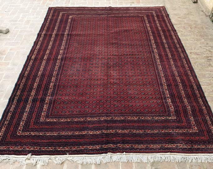 Fine Khoja Roshnai handmade rug 260 x 342 / Fine Turkmen rug / Bedroom rug/ Living room rug