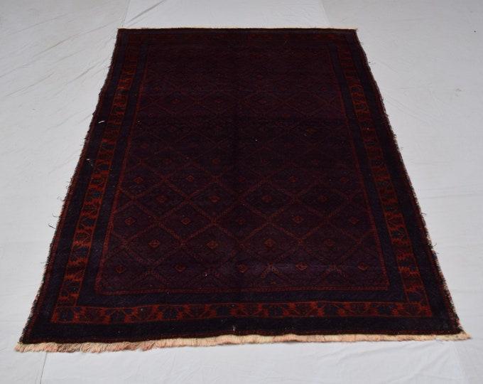 Vintage handmade zanjirgul wool rug, Home decor rug, Living room rug