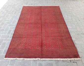 Vintage Handmade Tribal Boho rug - Turkish Wool rug - Oriental rug - Living room rug - tribal baluch rug - bedroom rug - free shipping