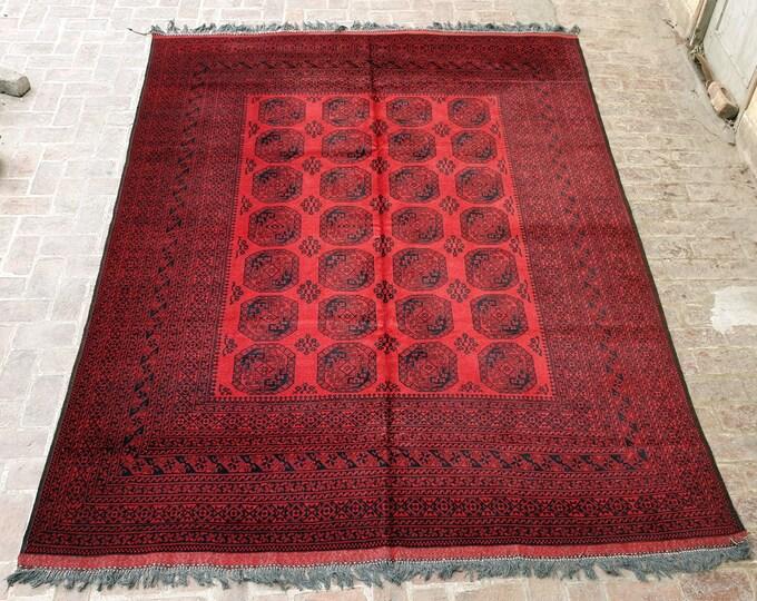 260 x 340 Filpai Rug, Vintage Handmade Afghan rug / 9x12 Large area rug / Bedroom rug, Dining room rug, Living room rug, Free Shipping