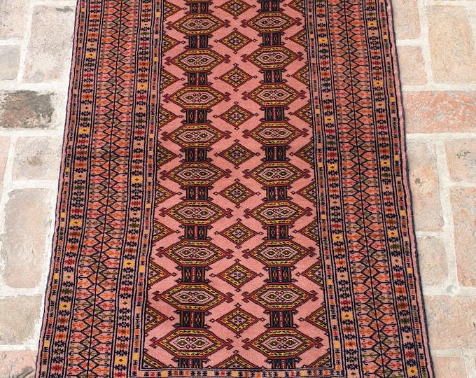 Fine Afghan Wool on Wool Zahir Shah Rug, Hand Made Tribal Area Rug