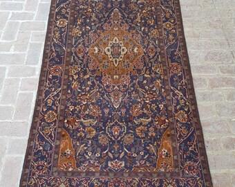 Vintage Handmade Afghan tribal baluchi rug, Bedroom rug, Kitchen rug, Free Shipping