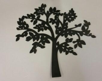 Tree metal art, tree wall decor, home decor with trees, tree wall hanging, metal wall accent, metal tree wall hanging