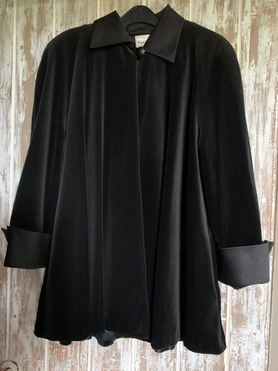 Vintage Frank Usher Velvet Evening Jacket