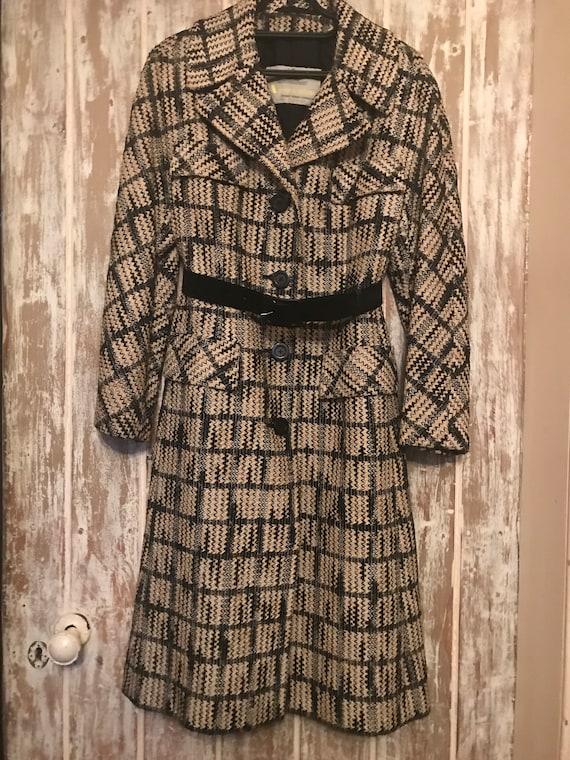 Vintage Aquascutum Check Coat