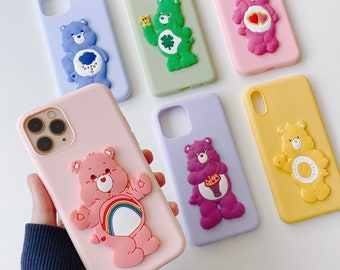 Care bear pastel iPhone case iPhone7/8/7+/8+/x/xs/xr/xs max/11/11pro/11pro max/11mini/12/12pro/12pro max and samsung