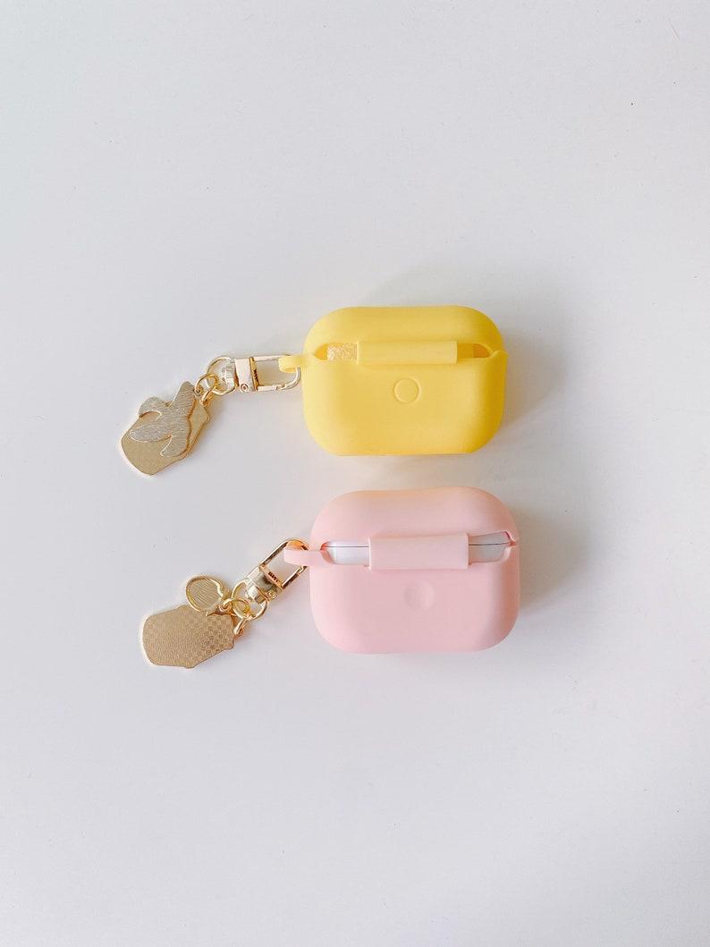 korea banana strawberry milk airpod pro case+keychain set kawaii cute