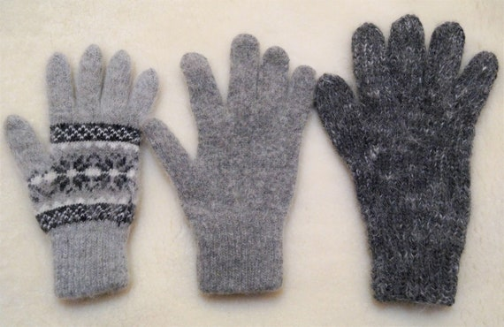 new winter Men/'s MITTENS goat down HOME KNITTED RUSSIAN XXL Casual warm