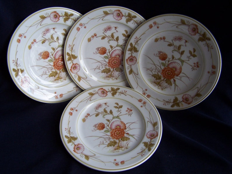 Versatone by Noritake 4 Hoffgarten Pattern Bread and Butter Plates