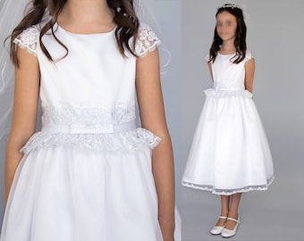 Patron robe communion fille