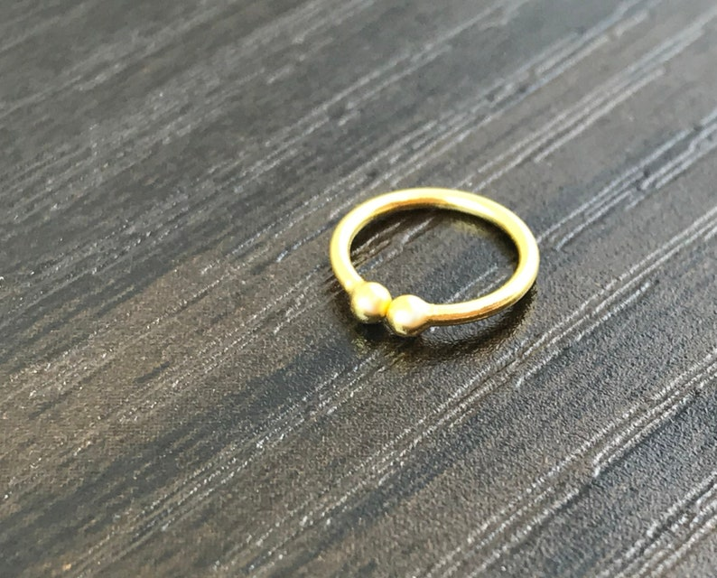 Fake gold-plated nose piercing open ring