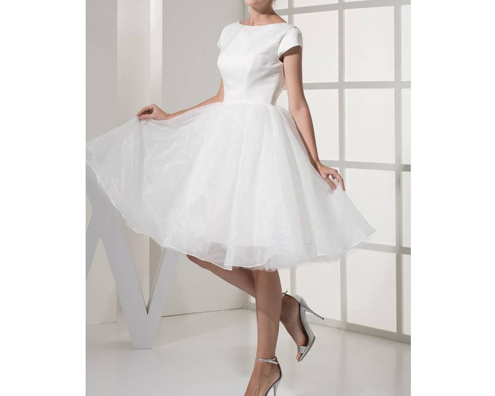 Kurze Brautkleid Kleid für die standesamtliche Trauung oder