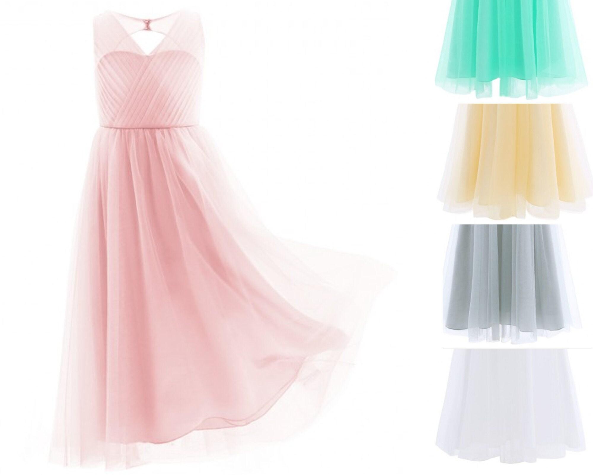 Robe De Cérémonie Fille Rose Pastel Robe Demoiselle
