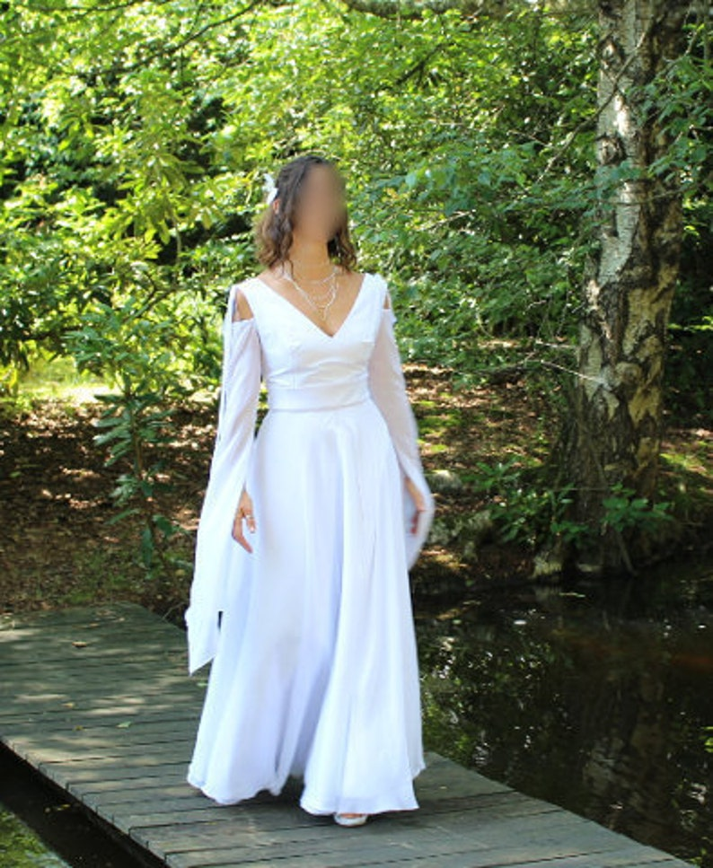 3a95433165 Medieval wedding gown dress for wedding medieval elven white