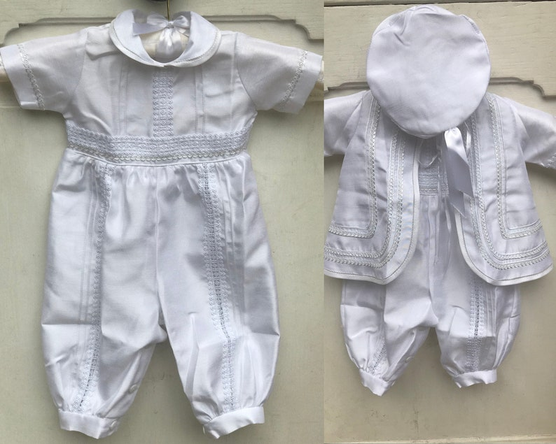 Baby boy christening outfit with jacket image 0