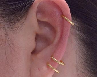 Creole clip for unaddipped ears, False ear piercing