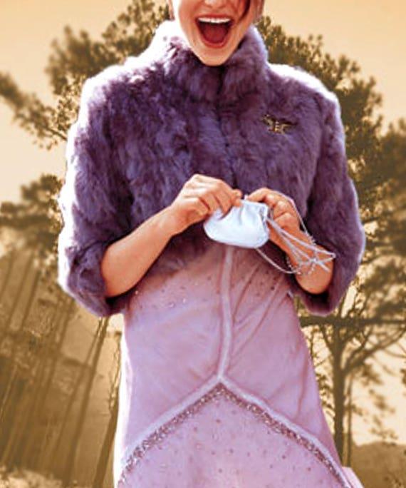 60e8f04cd215 Boléro de luxe fausse fourrure violet veste de type boléro   Etsy