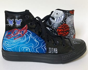 50f057b5 Panic! at the Disco Hand Painted Sneakers