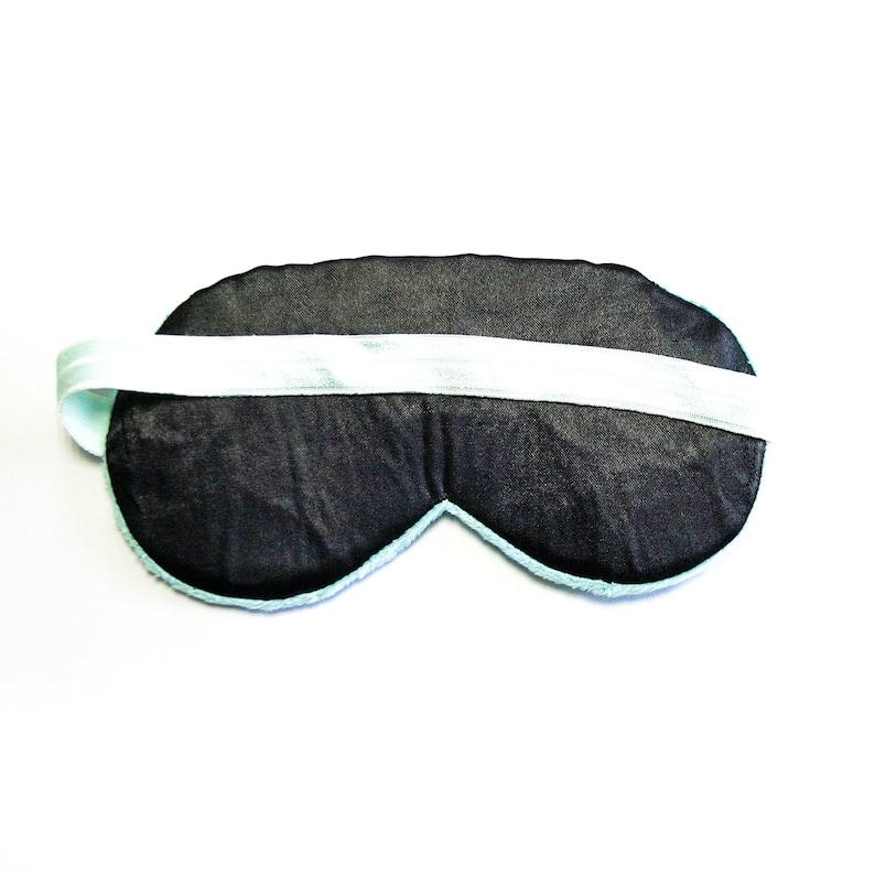 Sleeping Eye Mask Fluffy Eye Mask Travel Sleep Mask Gift for Her Furry Sleeping Mask Sleep Mask for Women Cute Mint Minky Sleep Mask