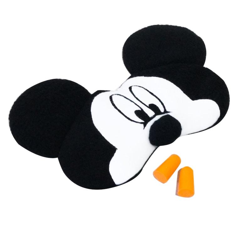 Mickey Mouse Sleep Mask Fluffy Sleeping Mask Mickey Mouse Gift Fleece Eye Mask Sleep Mask for Women Gift For Girl Kids Eye Mask Sleep