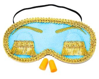 Holly Golightly Sleep Mask. Audrey Hepburn Night Mask. Breakfast at Tiffany's Party Supplies. Handmade Sleeping Mask with Eyelashes