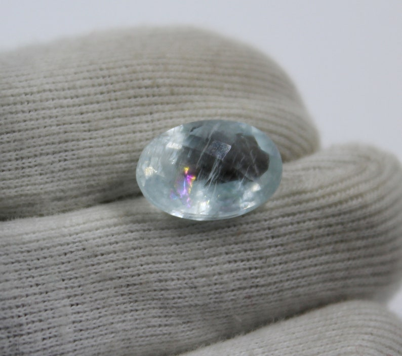 Gemstone Aquamarine Cut Stone,Loose Gemstone Aquamarine Jewelry Making Fire Aquamarine Natural Aquamarine 6.50Cts Aquamarine Gemstone