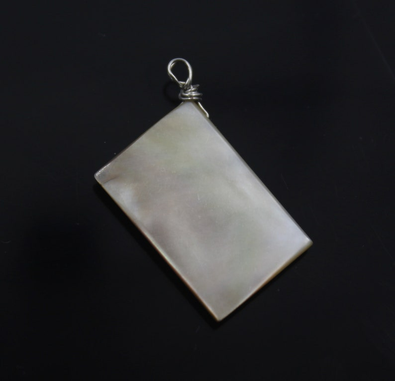 Handmade Necklace Findings Multi Shape Shell Pendants Natural White Mother Of Pearl Shell Silver Wire Wrapped Pendant Jewelry Making