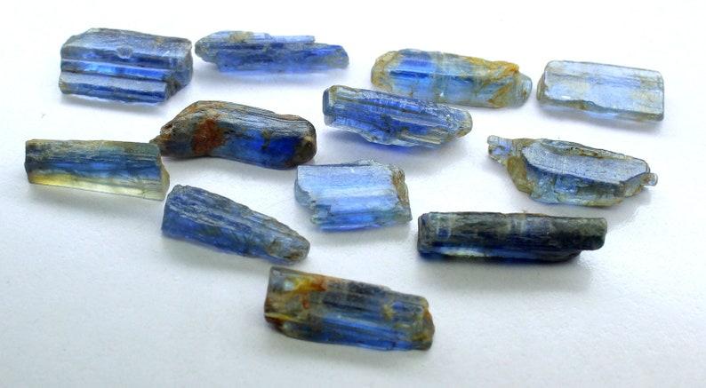 Raw Kyanite Stone Rough Kyanite Crystal Crystal Healing -Wholesale Raw Kynite Lot Gemmy Deep Cobalt Blue KYANITE Blue Kyanite Blade