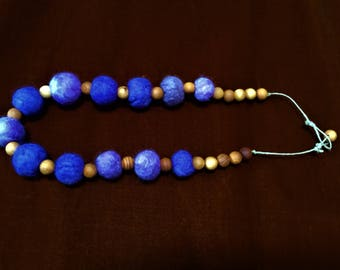 Gorgeous felted necklace in periwinkle blue.Light,comfortable and stylish!