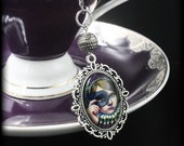 Blue Masked Victorian Girl Cameo Tea Ball Infuser - Masquerade - Alice in Wonderland - Steampunk - Tea Accessory for Loose Leaf Tea